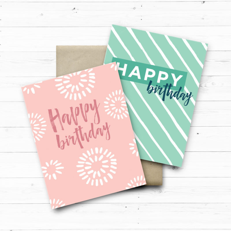 Simple Pattern Birthday Cards